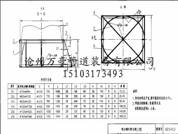 ZD型吸水喇叭管支架